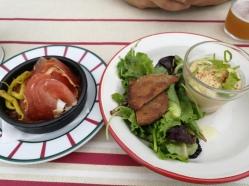 Houmous et jambon de Bayonne