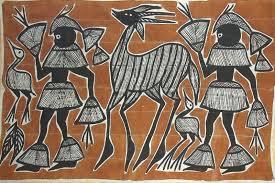 Khorogo avec représentations d'humains et d'animaux, source : Artisanat africain. Photo protégée.