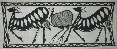Khorogo avec représentation d'animaux, source : Artisanat africain. Photo protégée